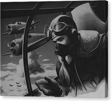 World War II Fighter Pilot Canvas Print by American School