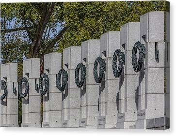 World War II Memorial Wreaths Canvas Print