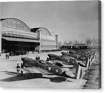 World War II, Original Caption Line-up Canvas Print by Everett