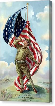 World War One Canvas Print - World War One Soldier by War Is Hell Store