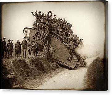 World War One Tank C. 1917 Canvas Print by Daniel Hagerman
