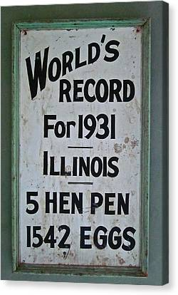 World's Record Canvas Print by Gwyn Newcombe