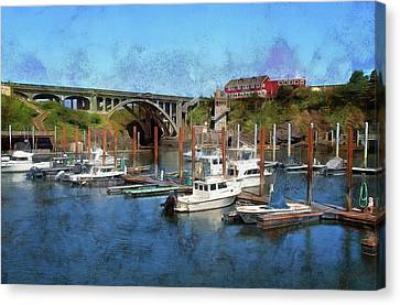 Worlds Smallest Harbor Canvas Print