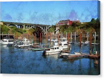 Worlds Smallest Harbor Canvas Print
