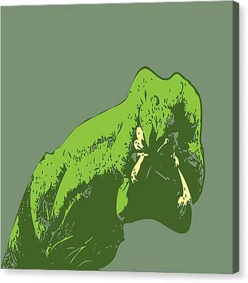 Worm Monster Canvas Print