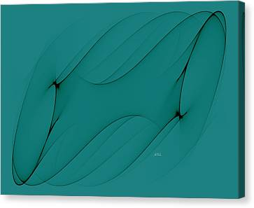 Wormhole In Turquoise  Canvas Print by Angela A Stanton