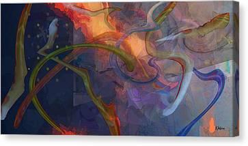 Wormholes Canvas Print by David Klaboe