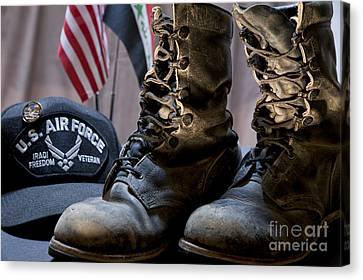 Worn Out Veteran Canvas Print by Melany Sarafis