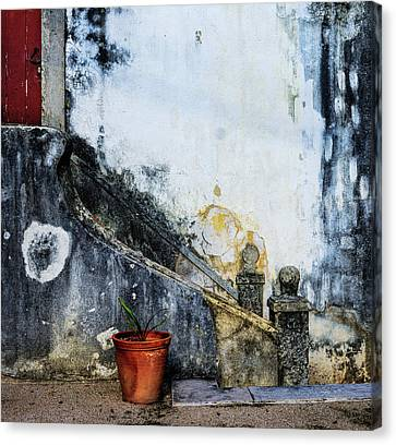 Canvas Print featuring the photograph Worn Palace Stairs by Marion McCristall