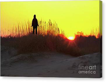 Worship The Sun On The Outer Banks Ap Canvas Print