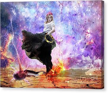 Worship Canvas Print - Worship Warrior by Dolores Develde