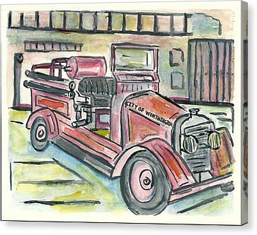 Worthington Fire Engine Canvas Print