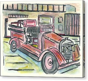 Worthington Fire Engine Canvas Print by Matt Gaudian