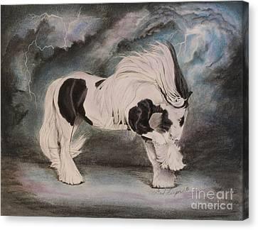 Gypsy Canvas Print - Worthington's Magic by Gail Finger