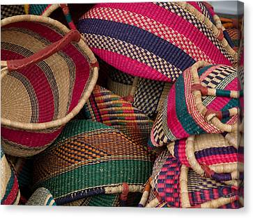 Woven Baskets Canvas Print by Walter Beck