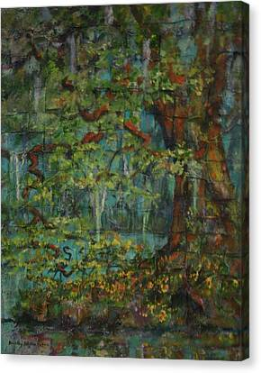 Woven Canvas Print by Dorothy Allston Rogers