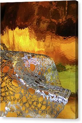 Woven Palette Canvas Print by Gail Butters Cohen