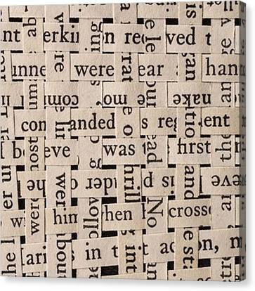 Woven Words By Edward M. Fielding - Canvas Print by Edward Fielding