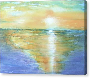 Wow Sunset Canvas Print by Debbie Lewis