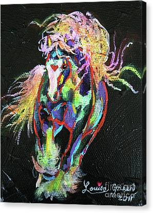 Wraggle Taggle Gypsy Cob Canvas Print by Louise Green