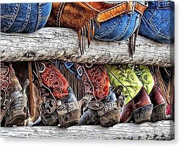 Wrangler Boots Butts And Spurs Canvas Print
