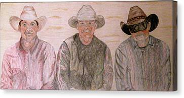 Wranglers From Elkhorn Canvas Print