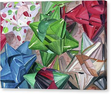 Canvas Print featuring the painting Wrap It Up by Lynne Reichhart
