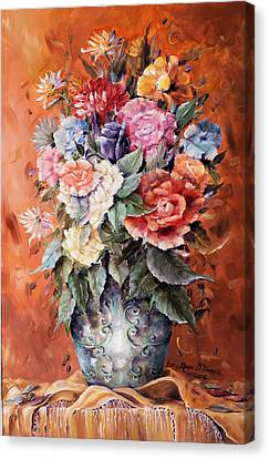 Wrapped In Flowers Canvas Print by Ellen Lerner ODonnell