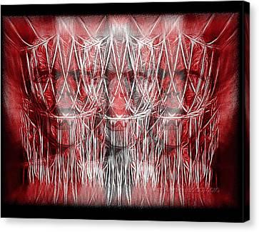 Wrath Threefold Canvas Print by Mimulux patricia no No