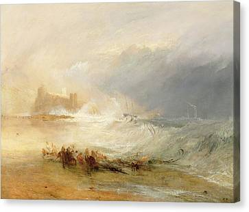 Wreckers - Coast Of Northumberland Canvas Print by Joseph Mallord William Turner