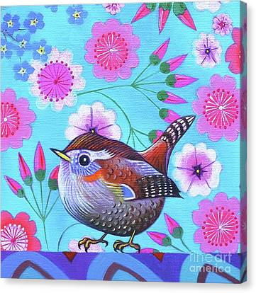Wren Canvas Print by Jane Tattersfield