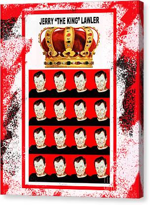 Wrestling Legend Jerry The King Lawler IIi Canvas Print by Jim Fitzpatrick