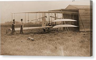 Wright Brothers 2nd Powered Machine Canvas Print by Padre Art