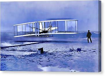 Wright Brothers First Flight Graphic Canvas Print by Dan Sproul
