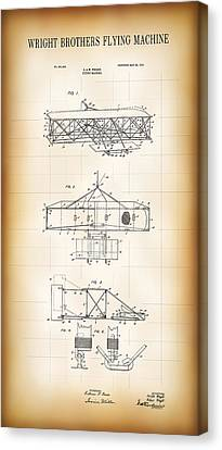 Wright Brothers Flying Machine Patent  1906 Canvas Print