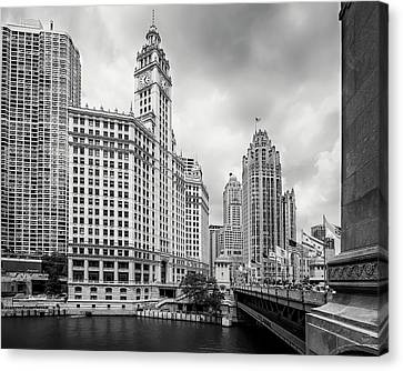 Canvas Print featuring the photograph Wrigley Building Chicago by Adam Romanowicz