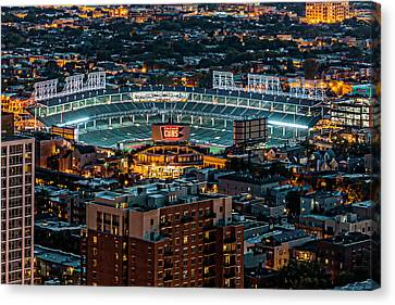 Wrigley Field From Park Place Towers Dsc4678 Canvas Print by Raymond Kunst