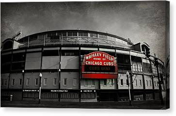 Wrigley Field Home Of The Chicago Cubs Canvas Print by Stephen Stookey