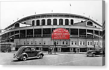 Wrigley Field - Home Of The Cubs C. 1939 Canvas Print by Daniel Hagerman