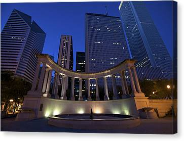 Wrigley Square At Night Canvas Print