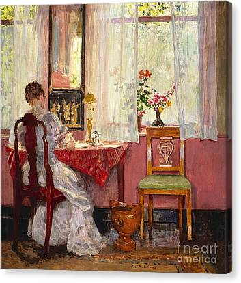 Writing Canvas Print by Gari Melchers