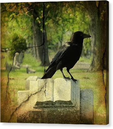 Written In Stone Canvas Print by Gothicrow Images