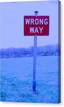 Wrong Way Canvas Print by Jackson ElRite