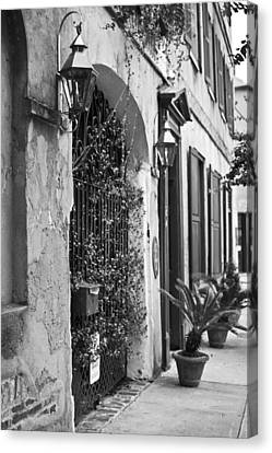 Wrought Iron Entry Canvas Print by Dustin K Ryan