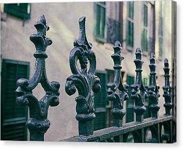 Antique Ironwork Canvas Print - Wrought Iron Fence by Kim Hojnacki