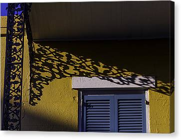 Wrought Iron Shadows Canvas Print by Garry Gay
