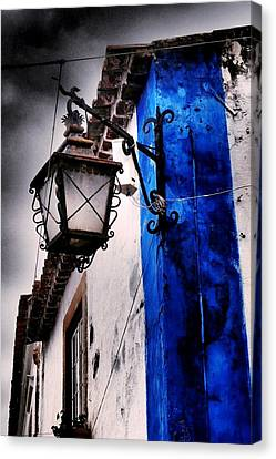 Wrought Iron Street Light Canvas Print by Dora Hathazi Mendes