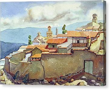 Ws1955bo001 Landscape Of Potosi 13.75x9.75 Canvas Print by Alfredo Da Silva
