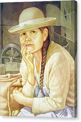 Ws1995dc003 Ana 15x19.75 Canvas Print by Alfredo Da Silva