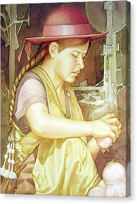 Ws1995dc004 Ivon 15x20 Canvas Print by Alfredo Da Silva